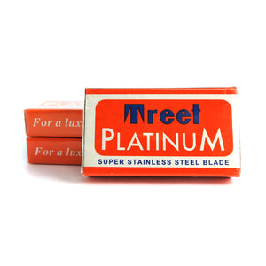 Treet Platinum Super Stainless Double Edge Safety Razor Blades 3 Packs