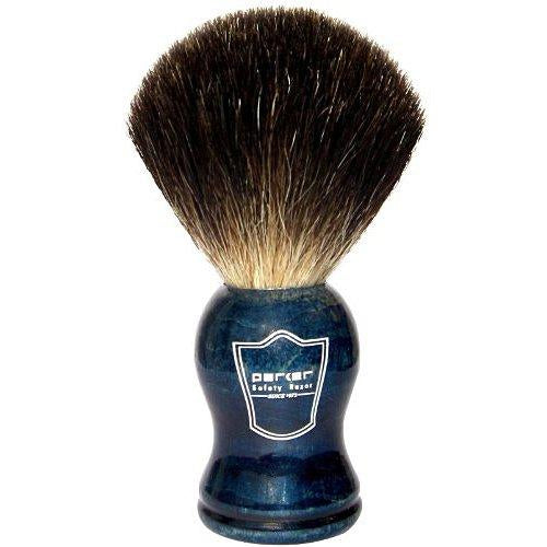 Blue Wood Handle Black Badger Brush
