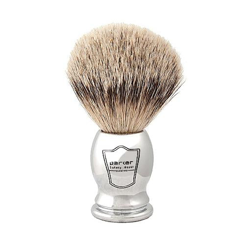 Chrome Handle Silver Tip Brush