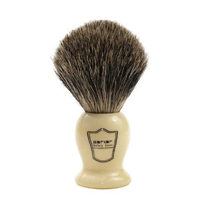 Faux Ivory Handle Pure Badger Brush