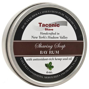 Taconic Bay Rum Shaving Soap with Hemp Seed Oil