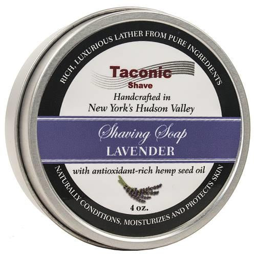 Taconic Shave Lavender Shaving Soap with Hemp Seed Oil