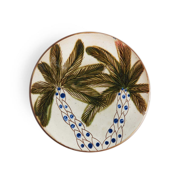 DOTTY PALM PLATE pottery care-guide-pottery, guest, hand_crafted, no_sale_item, palm grove, pottery_no_x, SS2021, table