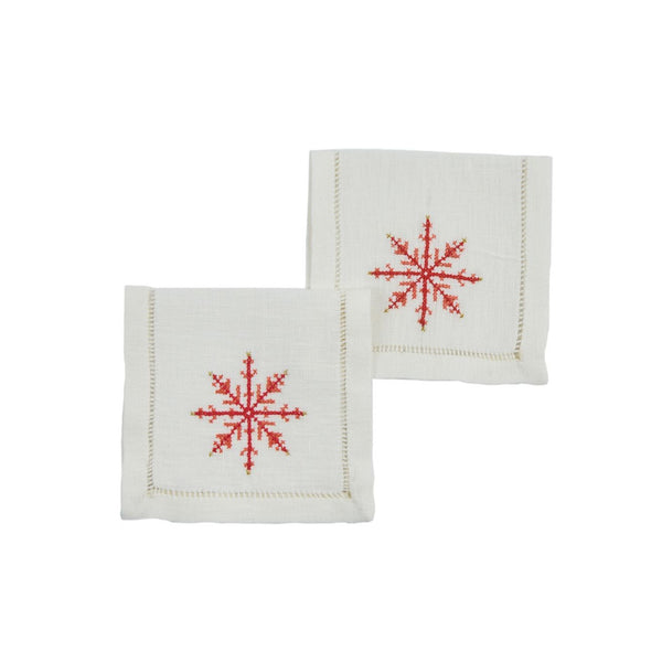 BALTAZAR'S STAR MEZZE NAPKIN (Set of 6) Napkin care-guide-delicate-40, christmas, cocktail, discount-20, Hand Embroidered, napkin, party, table