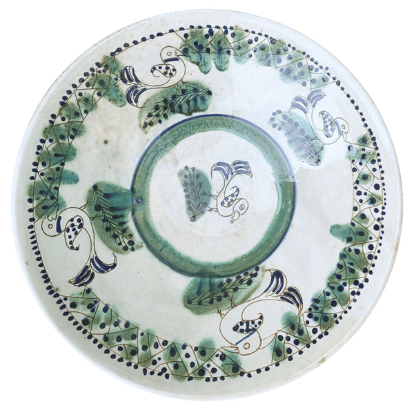 BIRDS ON TOUR SERVING BOWL pottery Busy Bees, care-guide-pottery, Goya, hand_crafted, no_sale_item, pottery_no_x, SS2021, table