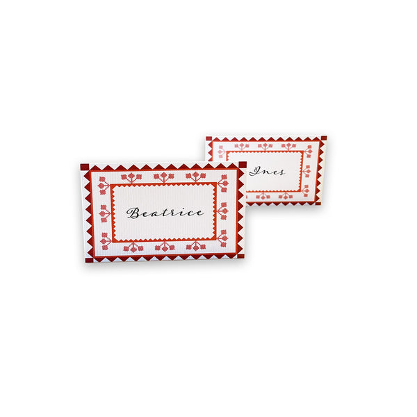 CARNATION PLACECARDS (Set of 6) stationery valentine