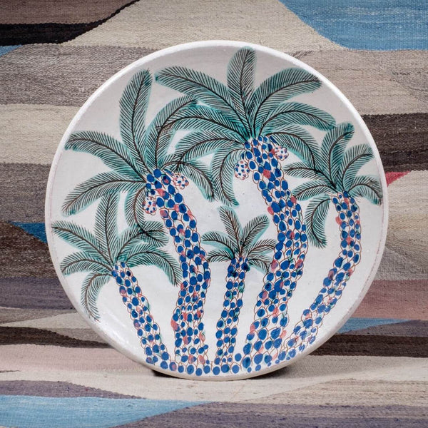 CLUSTER OF PALMS PLATTER pottery care-guide-pottery, hand_crafted, no_sale_item, pottery_no_x, SS2021