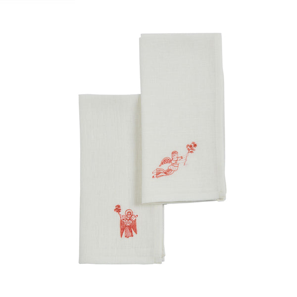 COPTIC ANGELS NAPKIN (SET of 2)