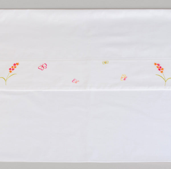 CHILDREN'S BUTTERFLY BEDDING Duvet baby-child-bed-linen-size-chart-cm-inches, care-guide-delicate-40, Children, Gift, Hand Embroidered