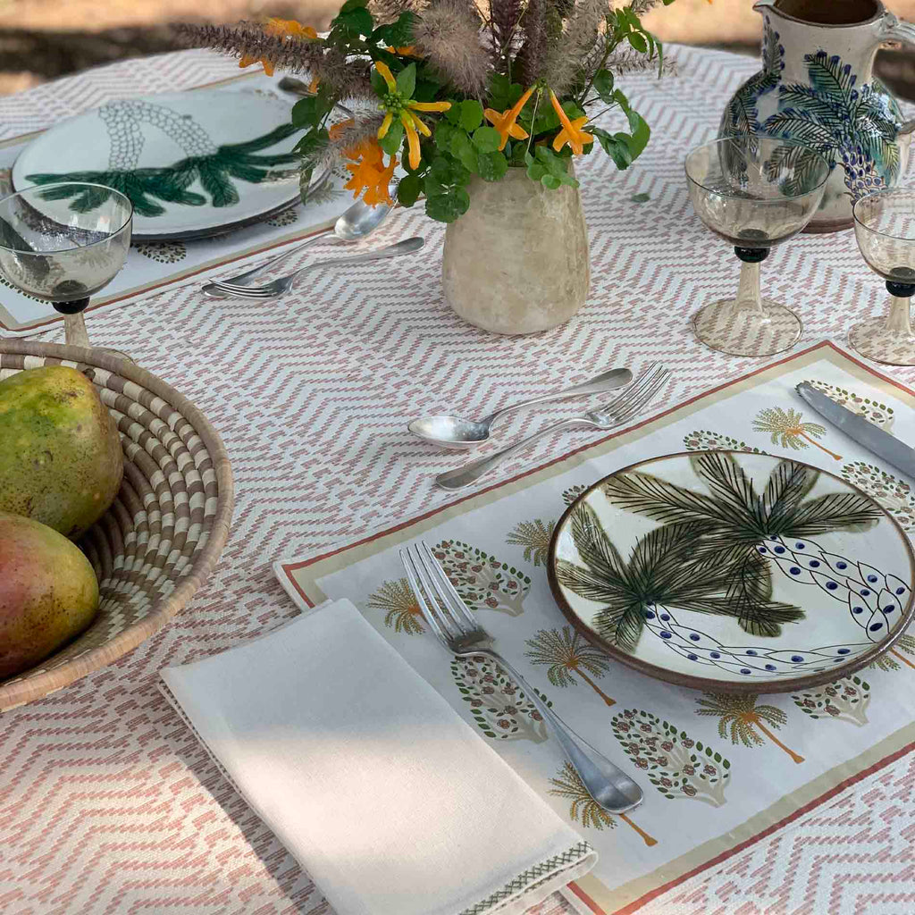 ORCHARD PLACEMATS Placemats care-guide-delicate-30-no-tumble-dry, Hand Printed, no_sale_item, palm grove, SS2021