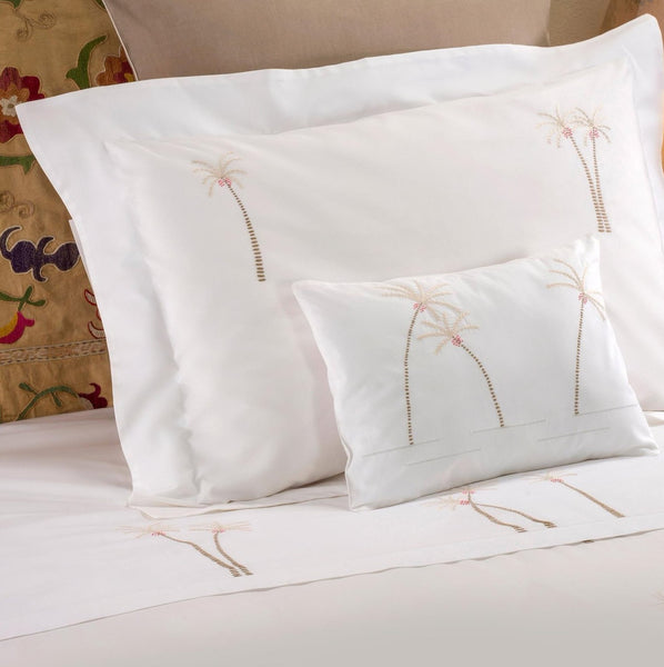 PALM TREE BEDDING Bedding bed-linen-size-chart-cm-inches, care-guide-delicate-40, Hand Embroidered