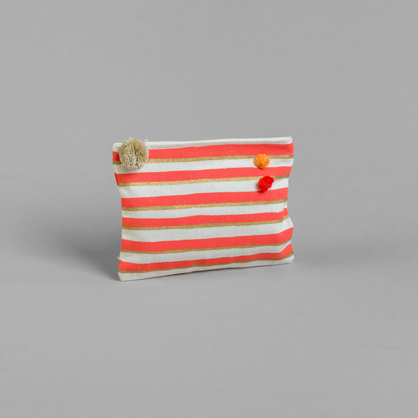 STRIPES SMALL POUCH Bags bag, bath, care-guide-delicate-30-no-tumble-dry-no-iron, Gift, Hand Printed, Moodphoto missing, travel