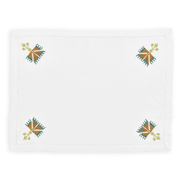 OTTOMAN CARNATION PLACEMAT Placemats care-guide-delicate-40, Hand Embroidered, no_sale_item, placemat, sampler, table, thanksgiving, winter