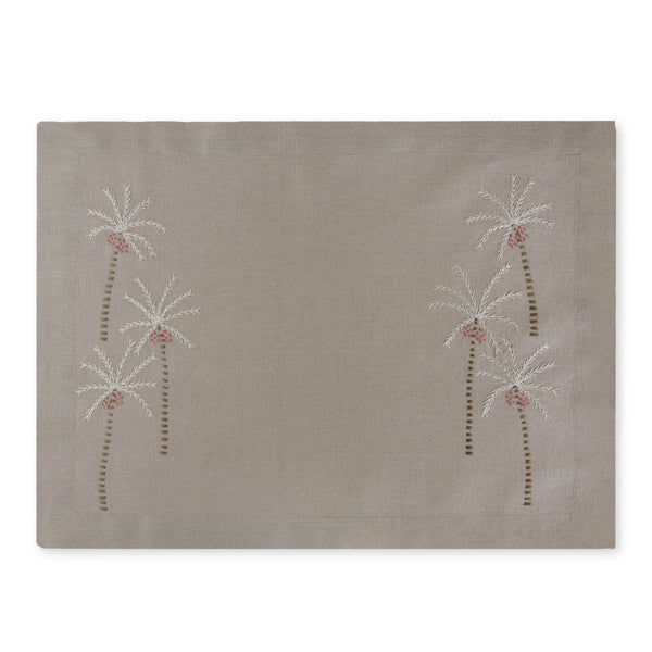 PALM TREE PLACEMAT Placemats Avenue, care-guide-delicate-40, Collecto, drop-ship, Hand Embroidered, no_sale_item, palm grove, placemat, SS2021, table
