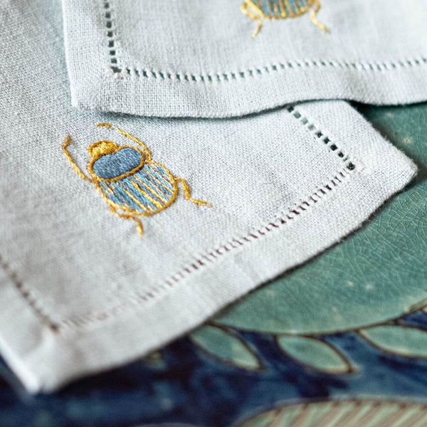 SCARAB AQUA MEZZE NAPKINS (Set of 6)