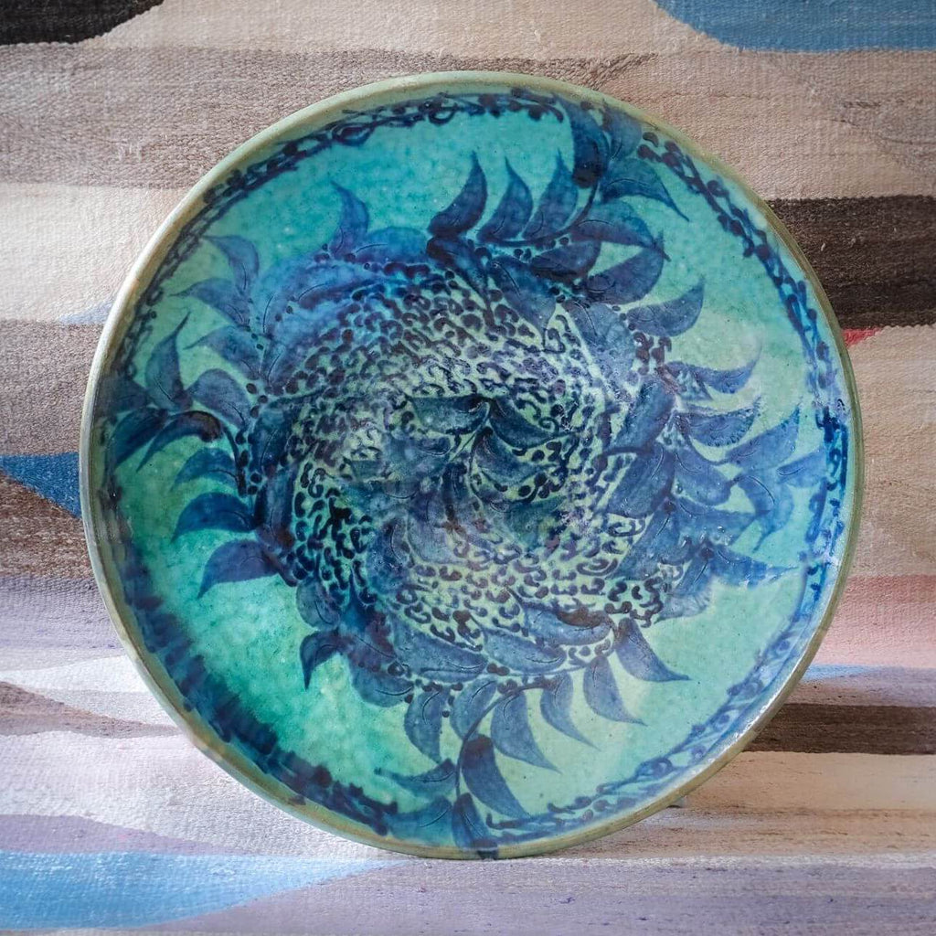 SEASCAPE SERVING BOWL pottery care-guide-pottery, hand_crafted, no_sale_item, pottery_no_x, SS2021, table, Variant Photos missing