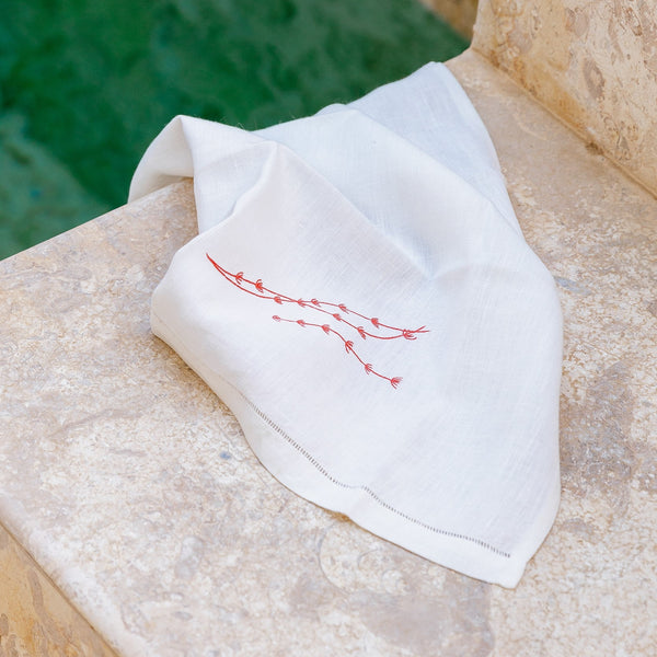SEAWEED LINEN GUEST TOWEL (Set of two) Towel bath, care-guide-delicate-40, Gift, guest, Hand Embroidered, Moodphoto missing, Photos missing, towel