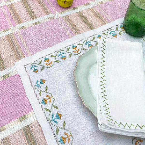 ZIG ZAG NAPKIN Napkin care-guide-delicate-40, Collecto, drop-ship, Goya, Hand Embroidered, in bloom, Moodphoto missing, napkin, no_sale_item, SS2021, table