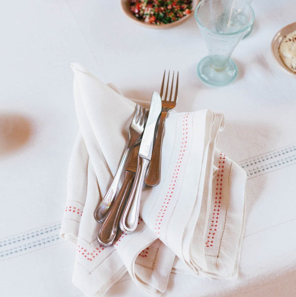 SHASHIKO LINEN NAPKINS Napkin care-guide-normal-60, Hand Embroidered, Moodphoto missing, napkin, no_sale_item, ohne-vendor, table, valentine, Variant Photos missing