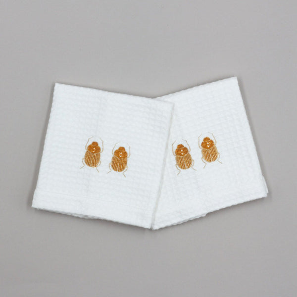 SKIPPING SCARAB HAND TOWEL (SET OF TWO)