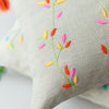 BRANCHES LINEN CUSHION COVER Cushion care-guide-delicate-30-no-tumble-dry, Hand Embroidered