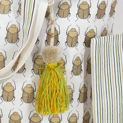 SKIPPING SCARAB BEACH BAG Bags care-guide-delicate-30-no-tumble-dry, Hand Printed, Moodphotos missing