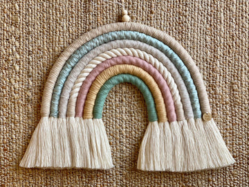 CUSTOM Macrame Rainbow