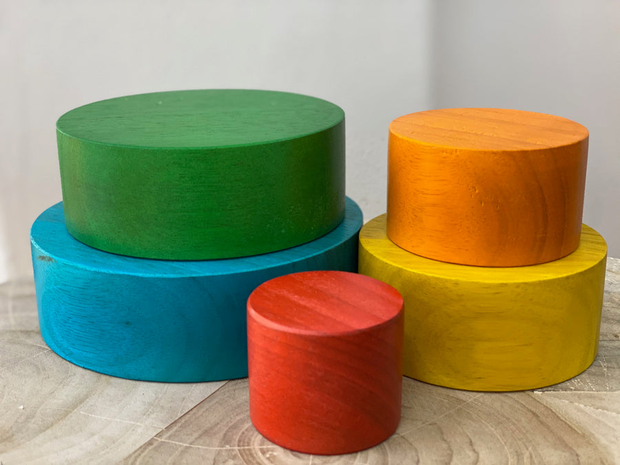 Rainbow Stacking and Nesting Bowls