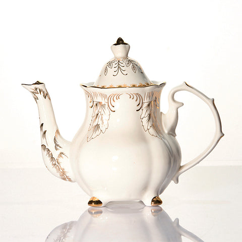 Tea Set Keramik Corak Gold Capodimonte