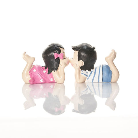 Boy & Girl Couple Figurine Size S Capodimonte