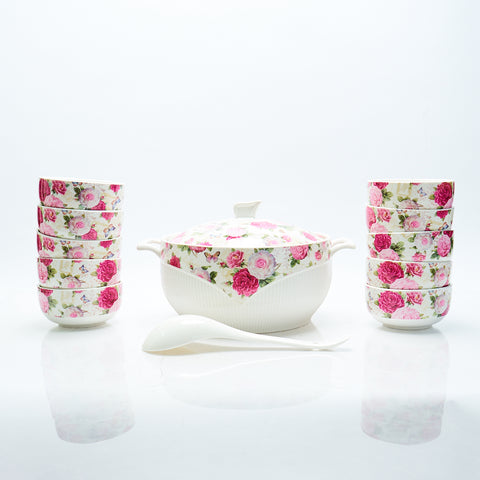 Bowl Set With Ladle Capodimonte