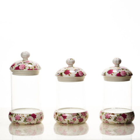Toples Kaca Shabby Chic isi 3 pcs