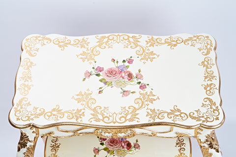 Meja / Table Set Polyresin Capodimonte isi 3
