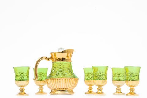 Tea Set Capodimonte 8 pcs Hijau