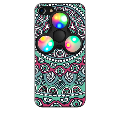 iPhone 7 Plus Trippy Case with LED Fidget Spinner