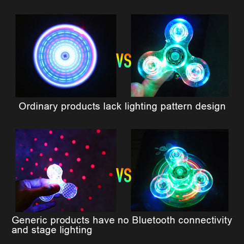 Fidget Spinner with LED and Bluetooth Speaker for iPhone and Android