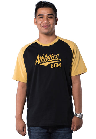 B.U.M Equipment Men Round Neck Tee-S/S (MD. BLACK)