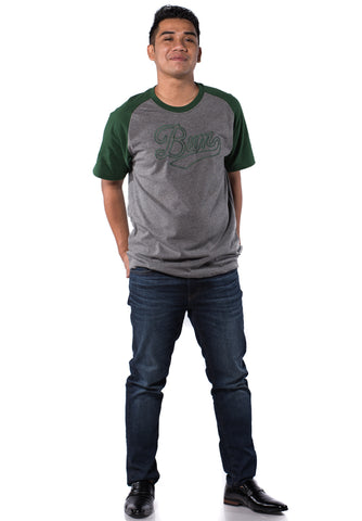 B.U.M Equipment Men Round Neck Tee-S/S (MD. GREY)