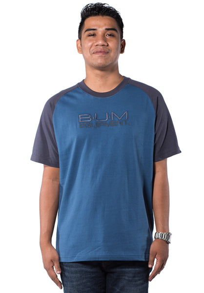 B.U.M Equipment Men Round Neck Tee-S/S (MD. BLUE)