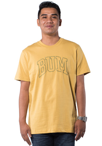 B.U.M Equipment Men Round Neck Tee-S/S (MD. YELLOW)