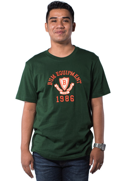 B.U.M Equipment Men Round Neck Tee S/S (MD. GREEN)