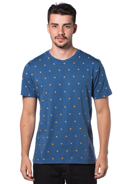 B.U.M Equipment Men Round Neck Tee (MD. BLUE)