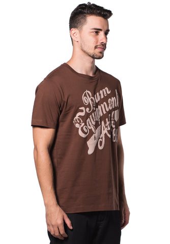 B.U.M Equipment Men Round Neck Tee (MD. BROWN)