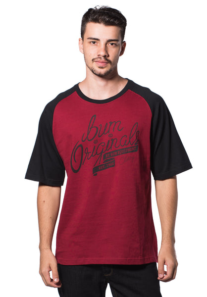 B.U.M Equipment Men Round Neck Tee (DK. RED)