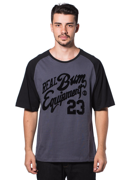 B.U.M Equipment Men Round Neck Tee (DK. GREY)