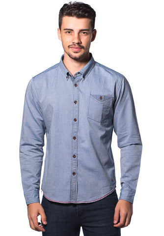 B.U.M Equipment Men L/S Woven Shirt  (LT. BLUE)