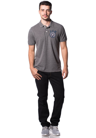 B.U.M Equipment Men Polo Tee-S/S (MD. GREY)
