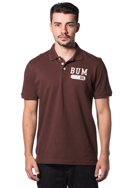B.U.M Equipment Men Polo Tee-S/S (MD. BROWN)