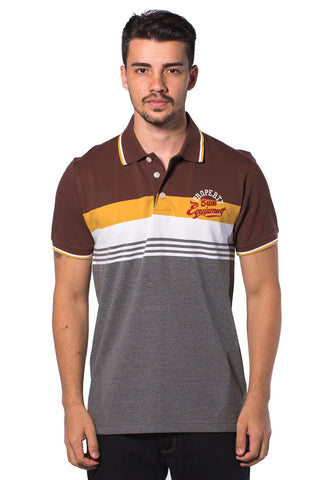 B.U.M Equipment Men Polo Tee (MD. BROWN)