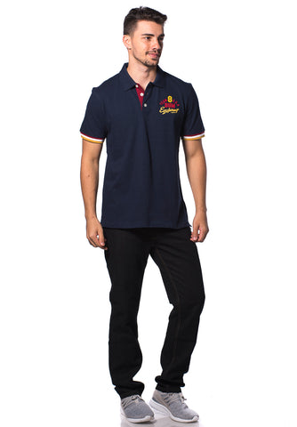 B.U.M Equipment Men Polo Tee (MD. NAVY)